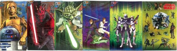 Grußkarten Star Wars mit Aufklebern